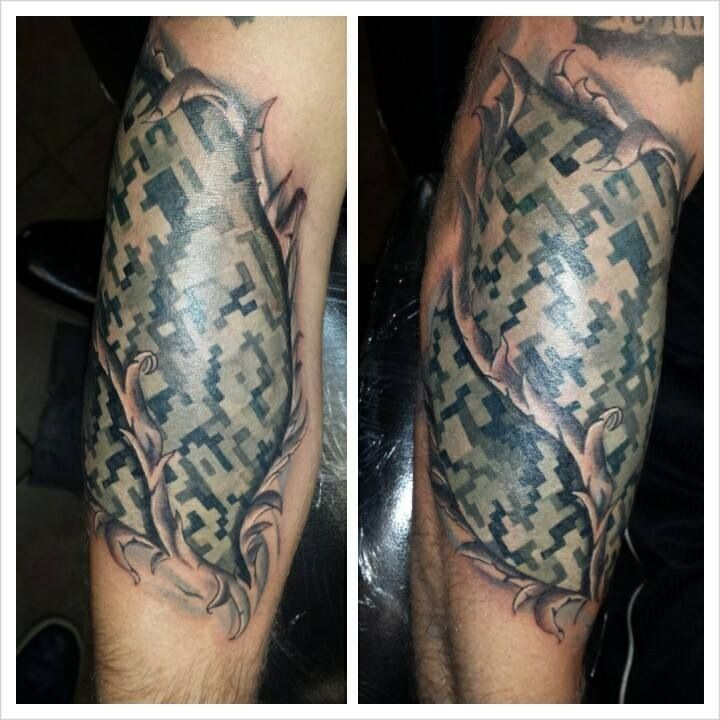 Army Camo Tattoo Google Search Military Love Ideas And Designs