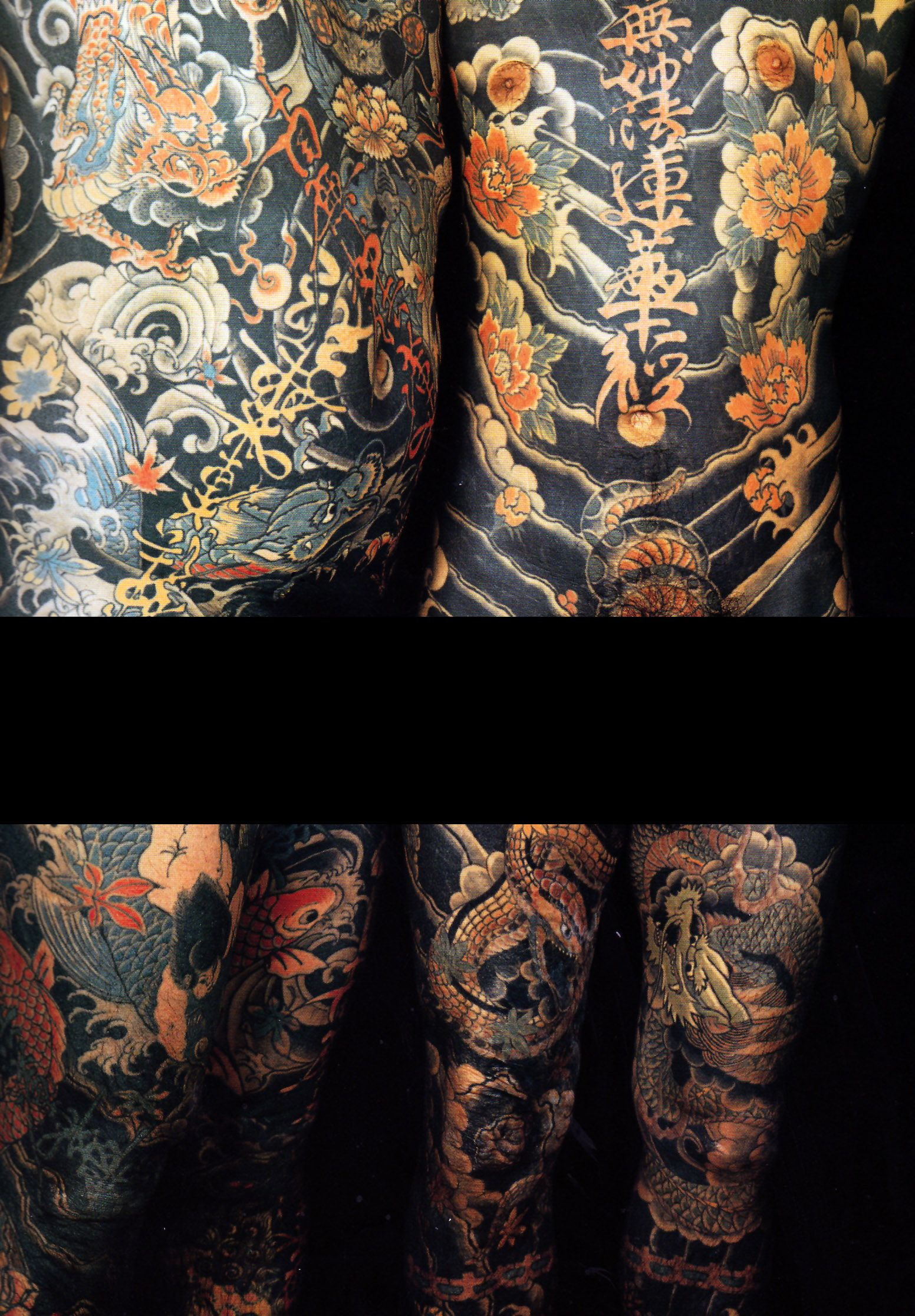Two Vintage Pre 1980S Japanese Full Body Suit Tattoos By Ideas And Designs