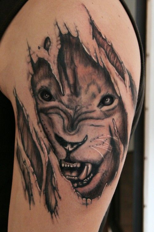 Powerful Lion Tattoo Design 3D Lion Tattoo Design Ideas And Designs