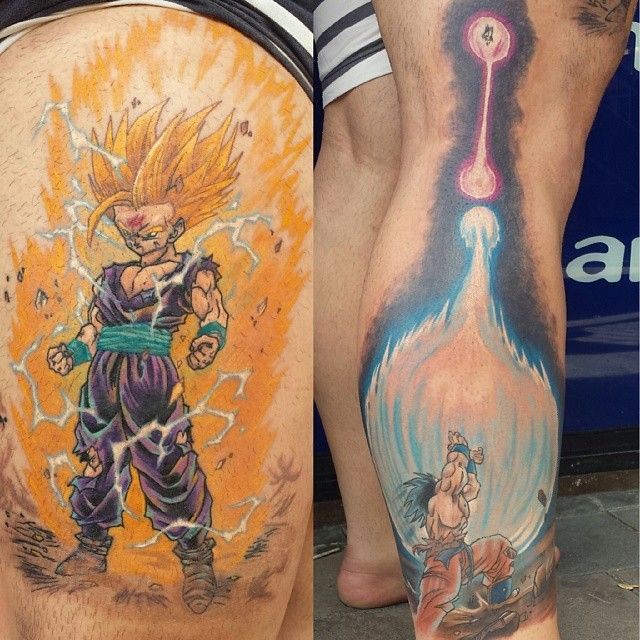 Gohan And Goku Dbz Ink By Steve Butcher Incredible Ideas And Designs
