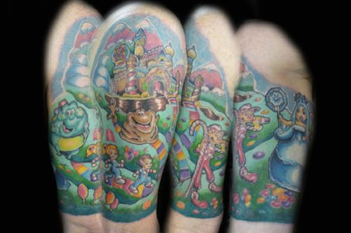 Image Detail For Candyland On An Arm Tatts Ideas And Designs