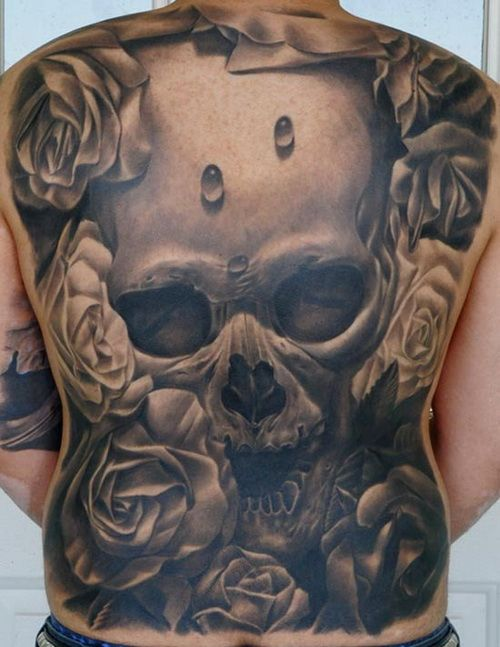 3D Skull Tattoos Designs On Full Back Full Back Tattoos Ideas And Designs