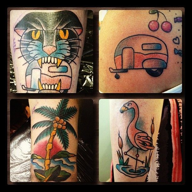 Retro Camper Tattoo Google Search Tattoo Pinterest Ideas And Designs