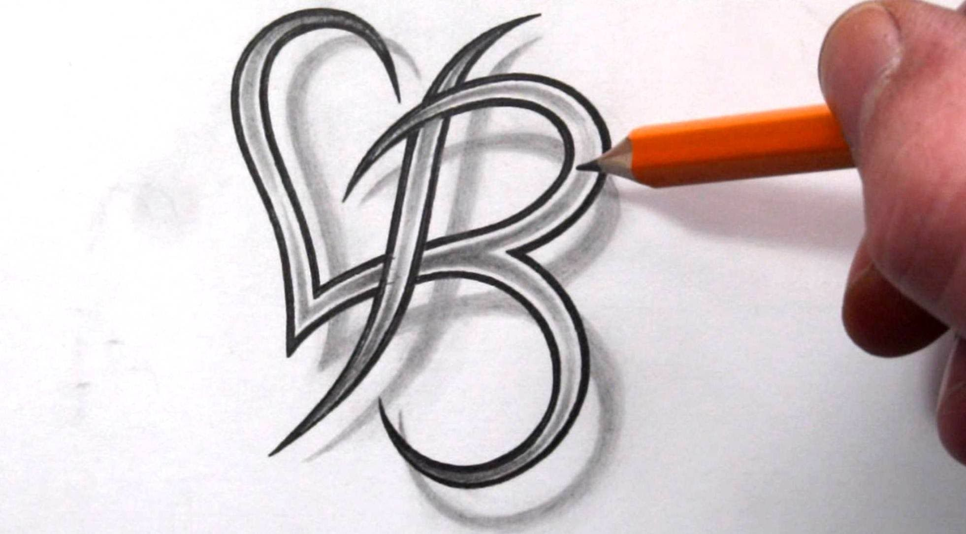 Letter B Tattoo On Pinterest Last Name Tattoos Letter L Ideas And Designs