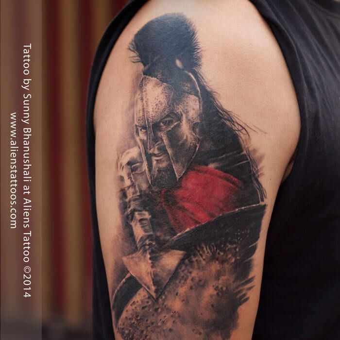 300 Spartan Tattoo Designs And Ideas On Arm 300 Spartan Ideas And Designs