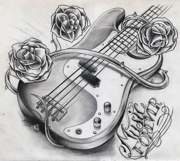 Guitar Tattoo Design By Willem Janssen On Artwanted Ideas And Designs