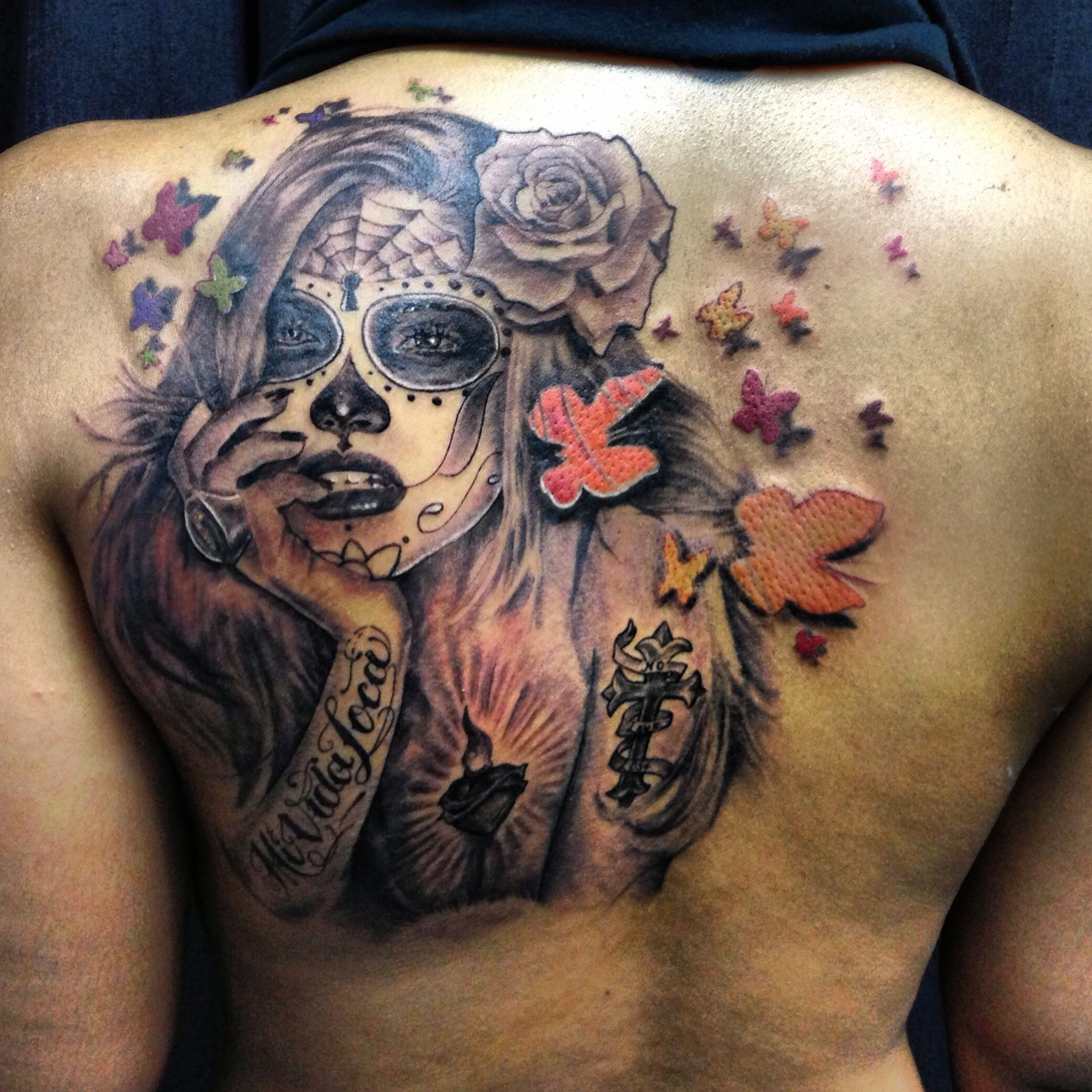 My Tattoo Day Of The Dead Adriana Lima Suger Skull Ideas And Designs