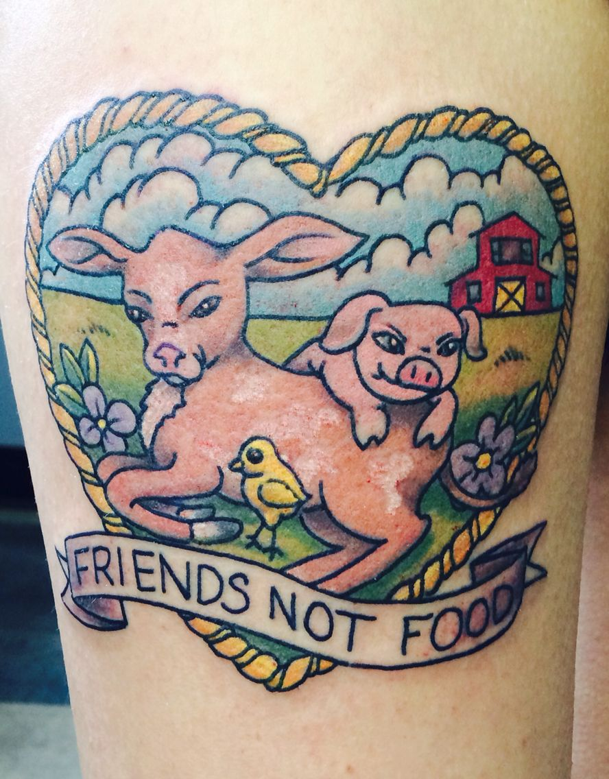 Friends Not Food Tattoo By Nephtali Lefty Brugueras Jr Ideas And Designs
