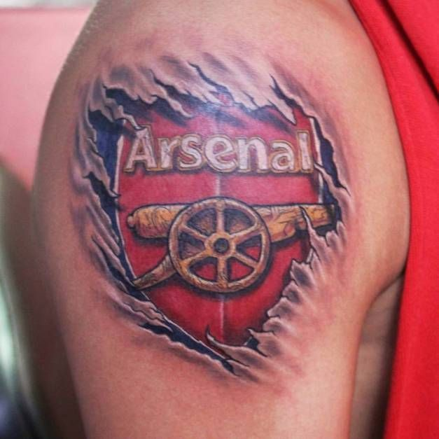 Arsenal Tattoo In 3D Tattoo Temple India Pinterest Ideas And Designs