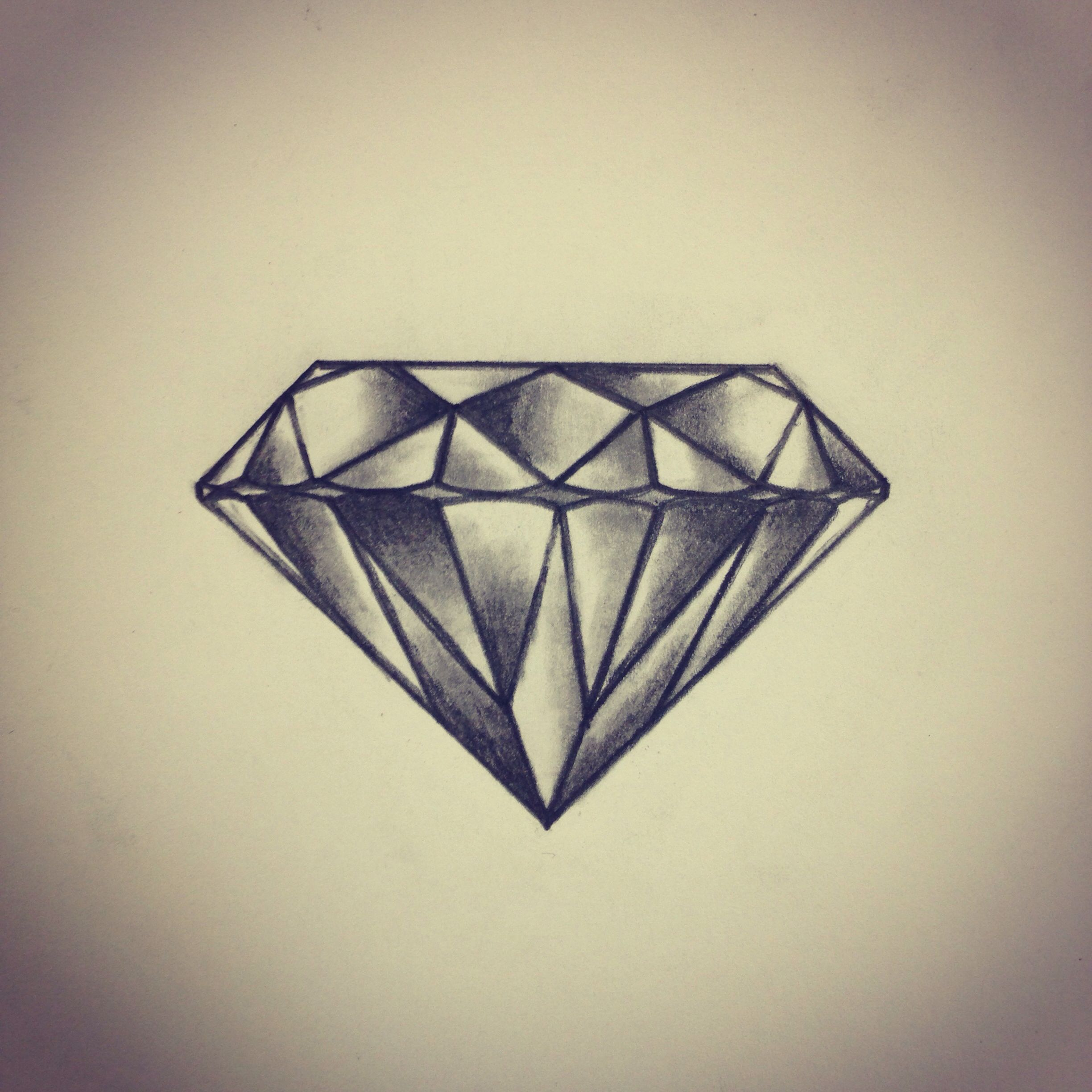Diamond Tattoo Sketch Drawing By Ranz I Think I D Ideas And Designs