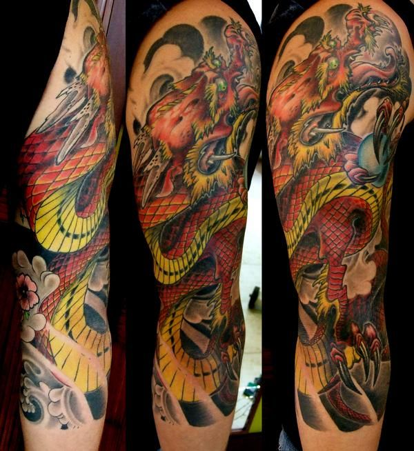 Dan Cameron Of Deadly Tattoos Dragon Sleeve Ink Cray Ideas And Designs