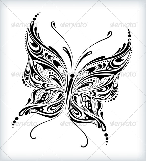 Abstract Butterfly Design By Silvertiger Graphicriver Ideas And Designs