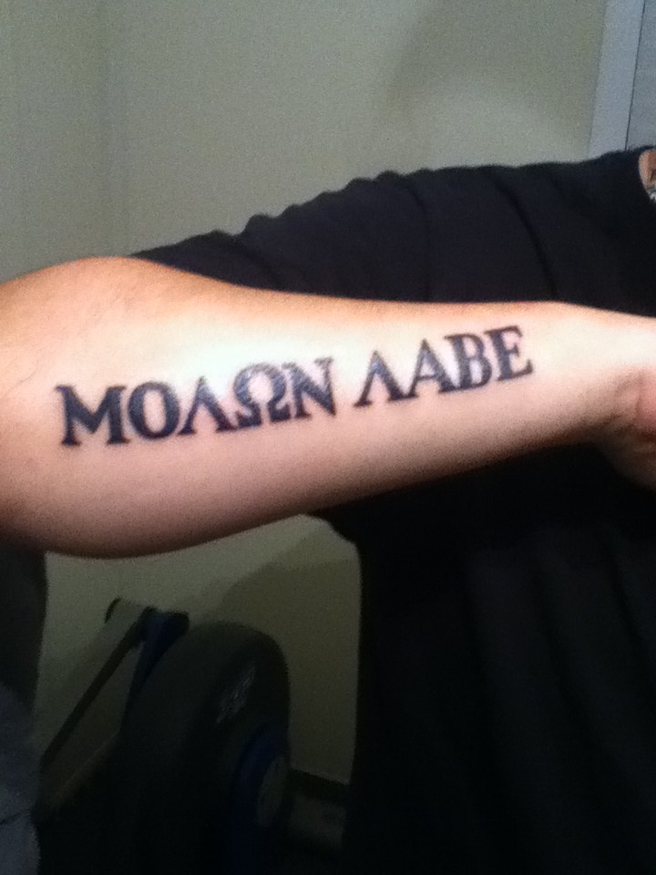 28 Molon Labe Tattoo Molon Labe Tattoos Molon Labe Ideas And Designs
