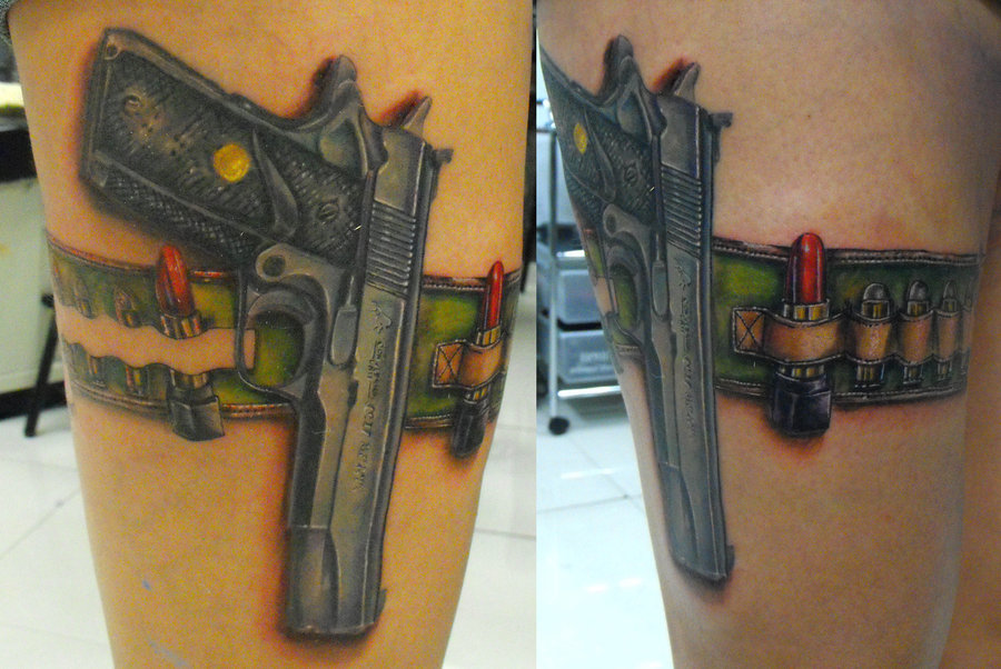Colt 45 Tattoos Ideas And Designs