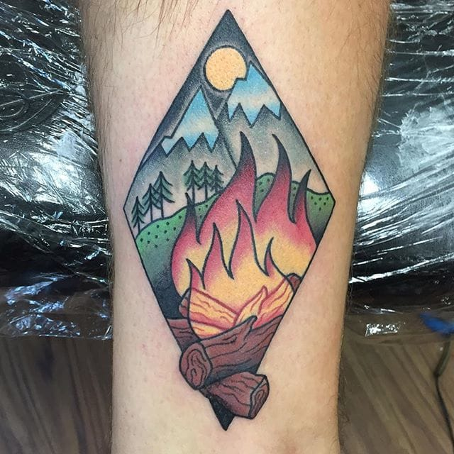 Go Outdoors With These Fun Camping Tattoos Tattoodo Ideas And Designs