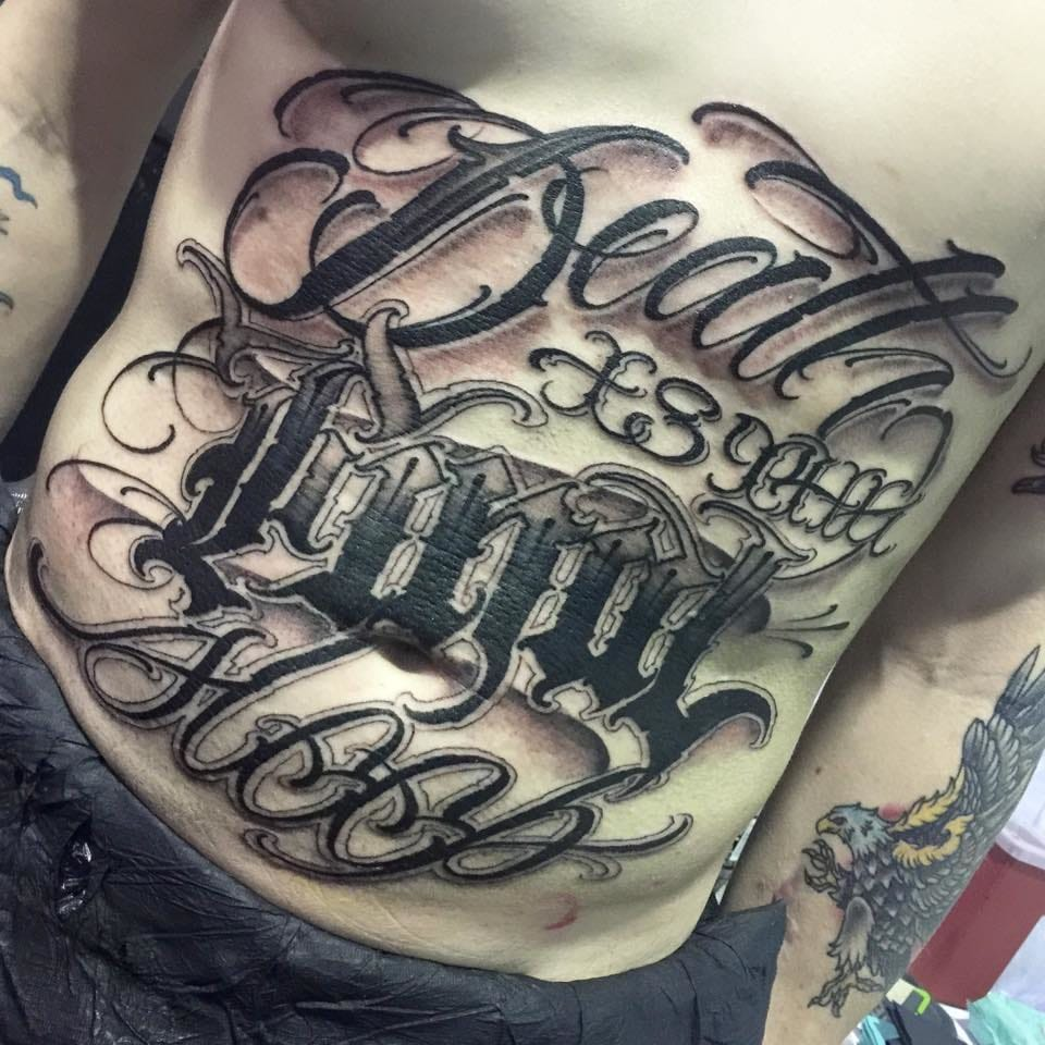20 Killer Lettering Tattoos By Big Meas Tattoodo Ideas And Designs