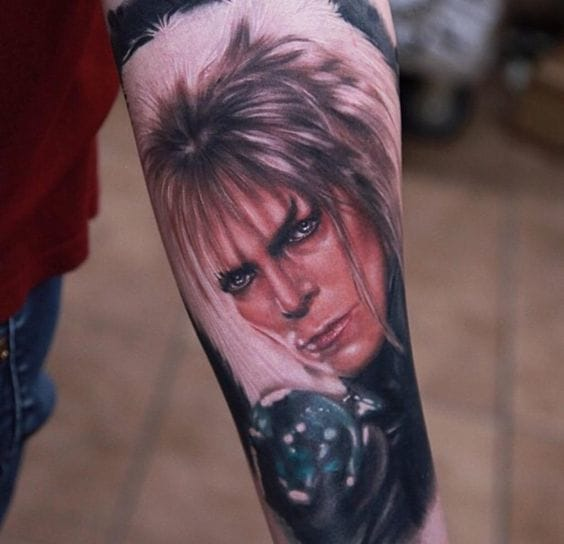 20 Tattoos Celebrating The Cult Classic Labyrinth Tattoodo Ideas And Designs