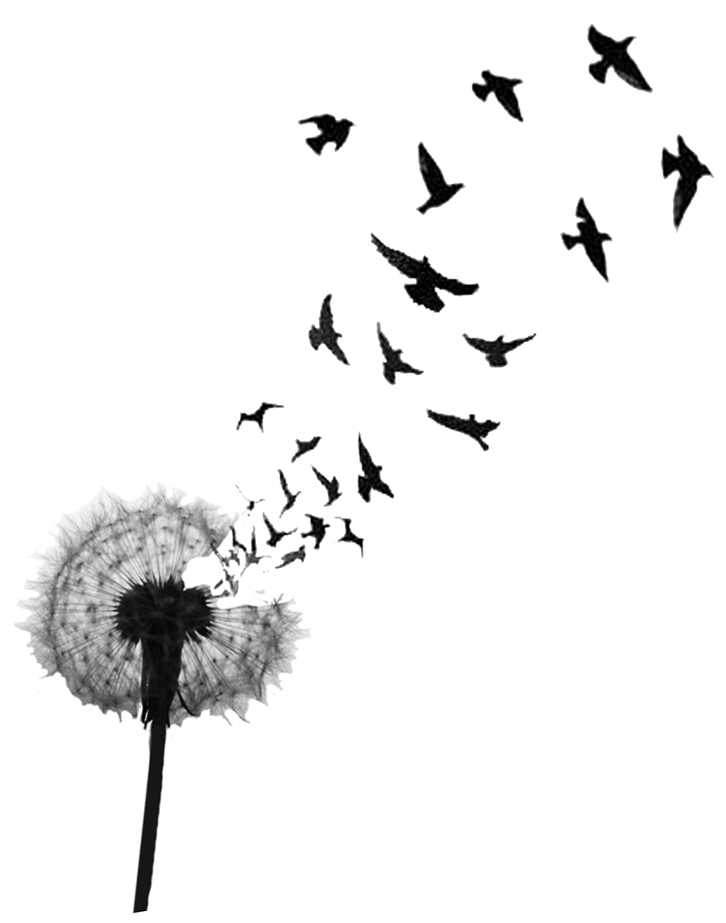 Birds Flying From Dandelion Tattoo Design Idea Ideas And Designs