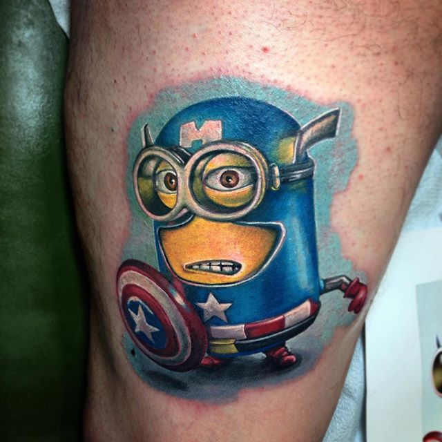 17 Minion Tattoo Images And Picture Ideas Ideas And Designs