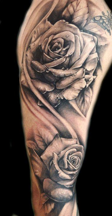 Dotwork Rose Tattoo On Arm By Katrina Ideas And Designs