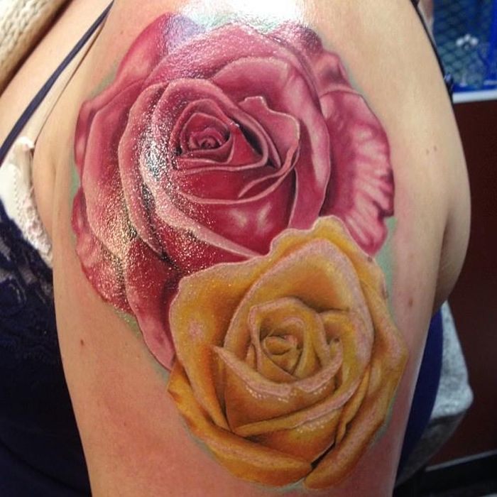 28 Best Yellow Rose Tattoos Ideas And Designs