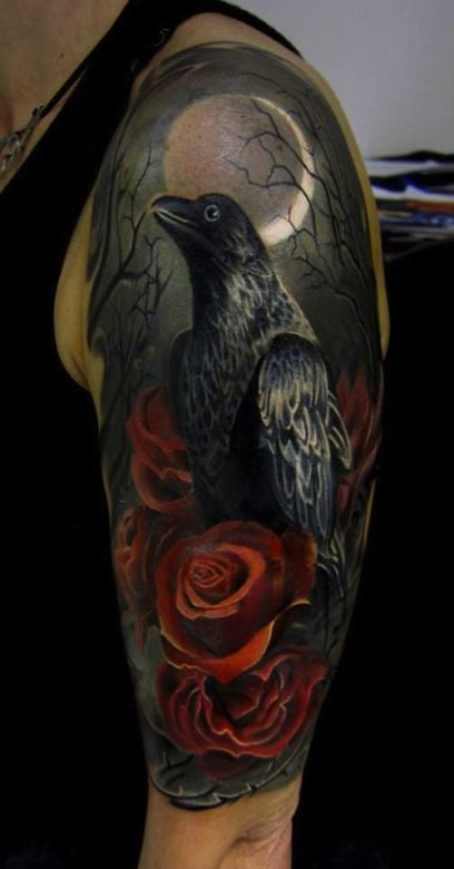 40 Raven Tattoos On Sleeve Ideas And Designs