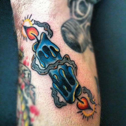 60 Famous Candle Burning At Both Ends Tattoos Designs Ideas And Designs