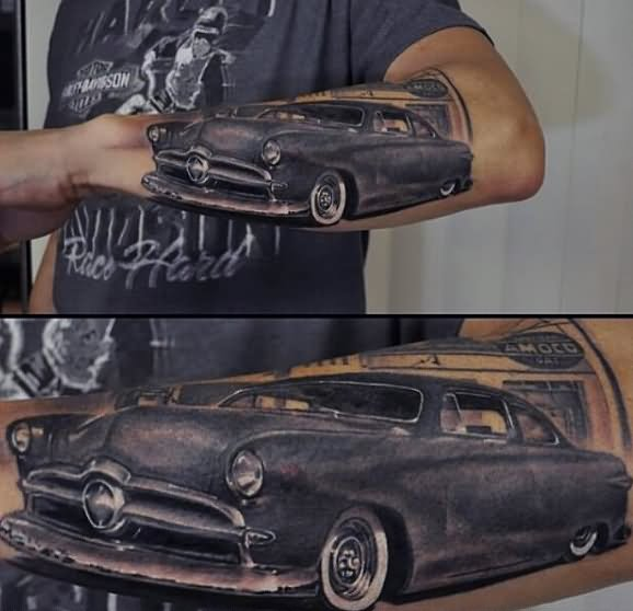 50 Awesome Car Tattoos Ideas And Designs