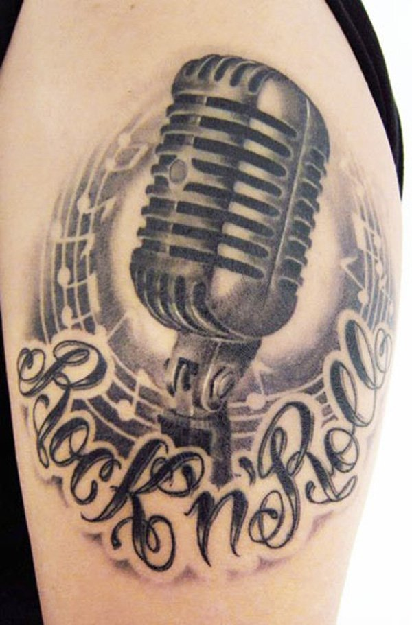 60 Awesome Microphone Tattoos Ideas And Designs