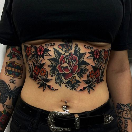 45 Traditional Stomach Tattoos Ideas And Designs
