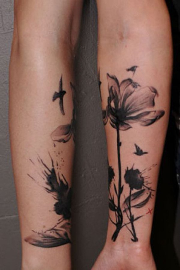 24 Black And White Poppy Tattoos Ideas And Designs
