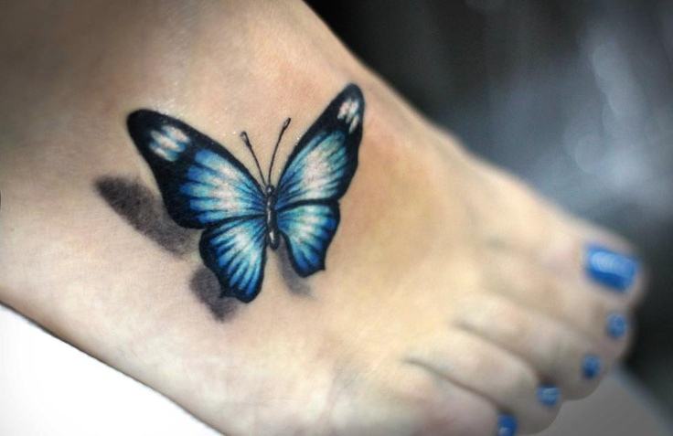 32 Black Butterfly Tattoos On Foot Ideas And Designs