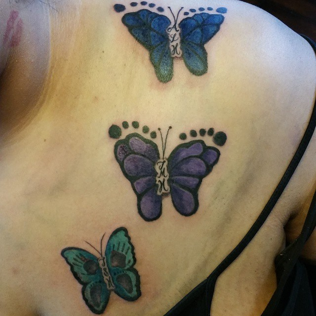 28 Butterfly Footprints Tattoos Ideas Ideas And Designs