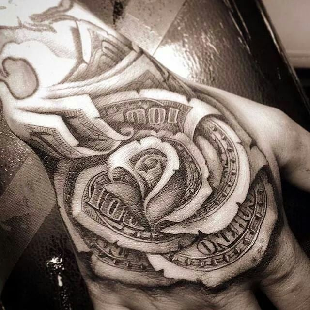 38 Awesome Money Rose Tattoos Ideas Ideas And Designs