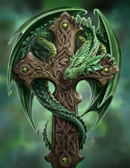 55 Dragon Cross Tattoos Designs And Pictures Ideas And Designs