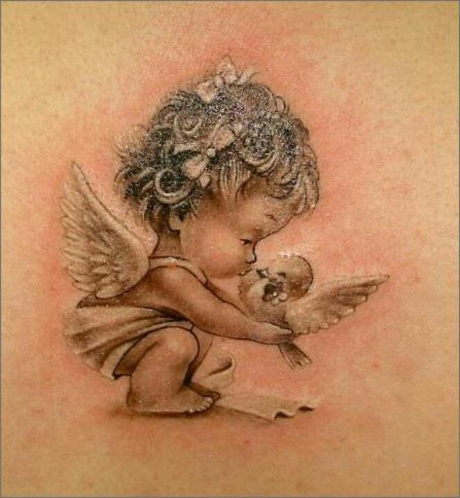 55 Baby Angel Tattoos Designs With Meanings Ideas And Designs