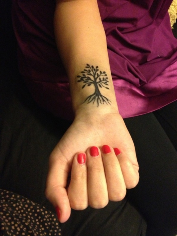 Ash Tree Tattoo On Girl Right Forearm Ideas And Designs