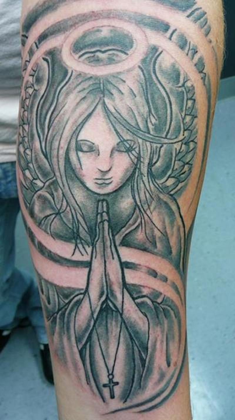 60 Incredible Praying Angel Tattoos Designs With Meanings Ideas And Designs