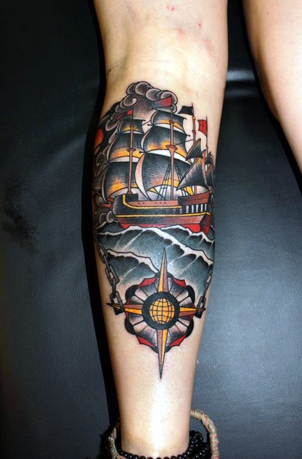 40 Cute And Meaningful Boat Tattoo Designs Bored Art Ideas And Designs