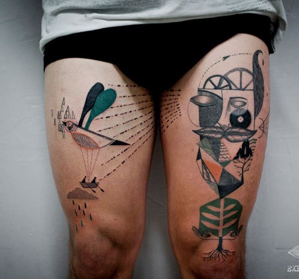 40 Perfect Abstract Tattoo Designs Bored Art Ideas And Designs