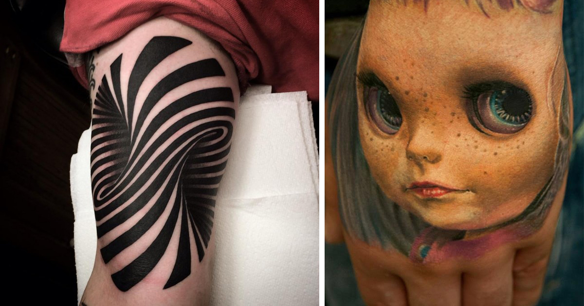 25 Mind Bending 3D Tattoos Demilked Ideas And Designs