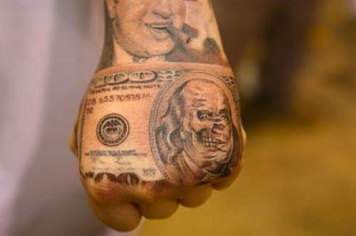 Money Tattoos Tattoo Ideas Artists And Models Ideas And Designs