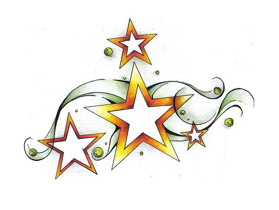 Shooting Star Tattoo Designs To Bring Good Luck Ideas And Designs
