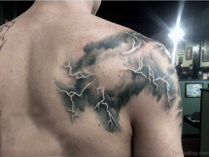66 Phenomenal Clouds Tattoos On Shoulder