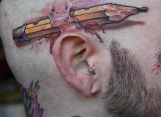 3d head tattoos