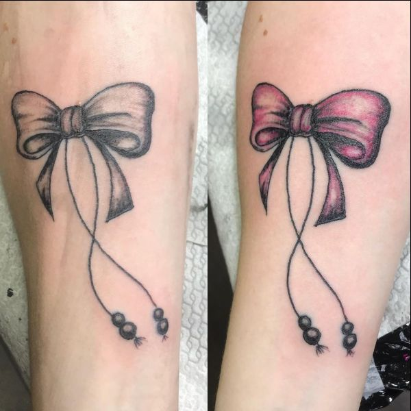 bow tattoos for best friends