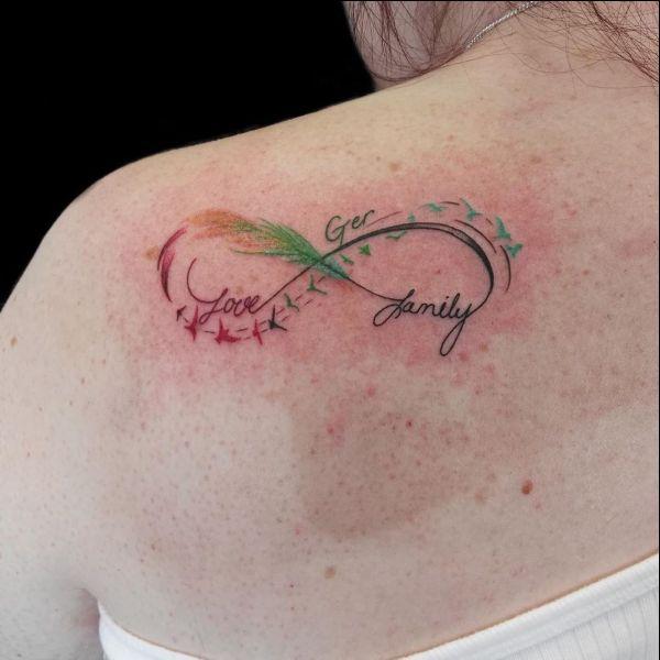 watercolor infinity tattoo