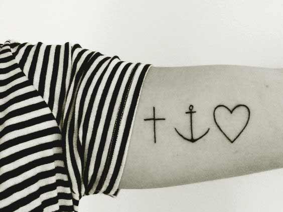 faith symbol tattoos