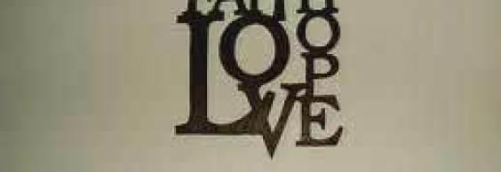 Faith hope love tattoo on shoulder