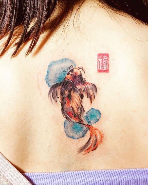 fish tattoos abstract